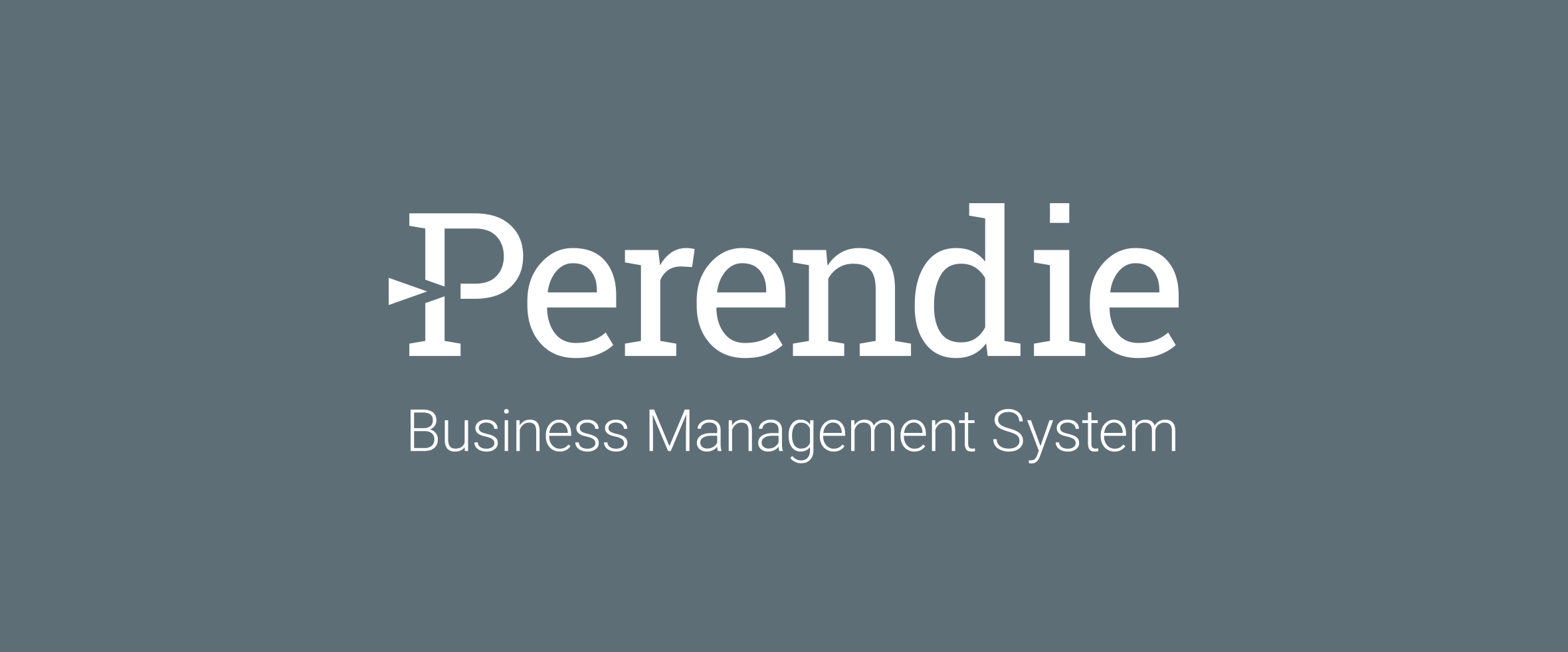 Perendie Business Management System identity design