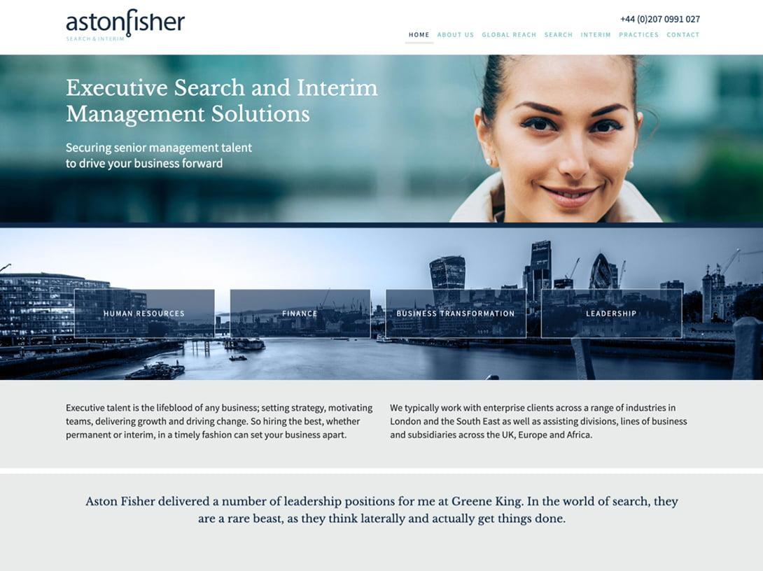 Brand design and website design for Interim Management consultancy London